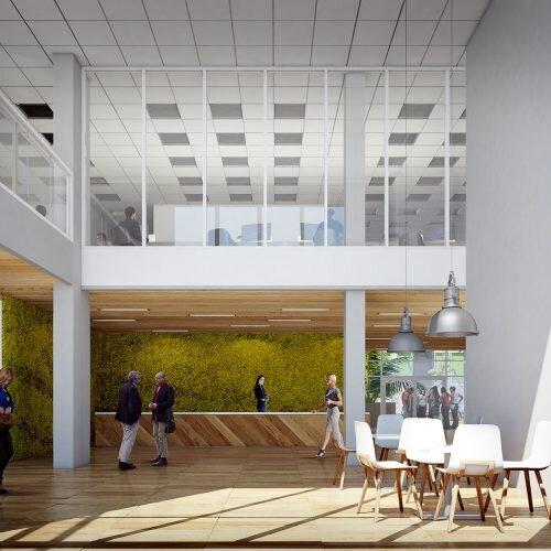 wizualizacja wnętrza budynku biurowego dla Castoramy