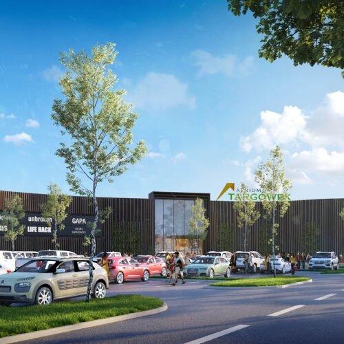 wizualizacja architektoniczna centrum handlowego w Waraszawie